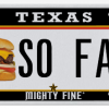 Texas License Plate - Cheeseburger
