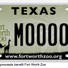 Texas License Plate - Fort Worth Zoo