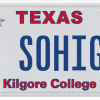 Texas License Plate - Kilgore College
