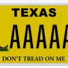 Texas License Plate - Snake