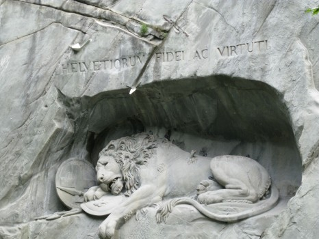 Löwendenkmal, or the Lion of Lucerne